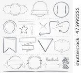 hand drawn vector elements | Shutterstock .eps vector #475992232