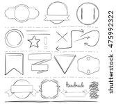 hand drawn vector elements | Shutterstock .eps vector #475992322