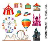amusement park colorful objects ... | Shutterstock .eps vector #476003656