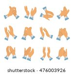 clapping hands flat icon set... | Shutterstock .eps vector #476003926