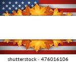 american flag. banner. autumn... | Shutterstock .eps vector #476016106