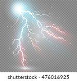 set of lightnings. thunder... | Shutterstock .eps vector #476016925