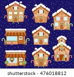 set of cute vector holiday... | Shutterstock .eps vector #476018812