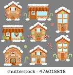 set of cute vector holiday... | Shutterstock .eps vector #476018818