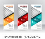 roll up banner stand template...   Shutterstock .eps vector #476028742