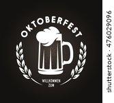 oktoberfest beer festival retro ...   Shutterstock .eps vector #476029096