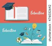 education supplies concept... | Shutterstock .eps vector #476032642