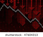 business chart in ticker style... | Shutterstock .eps vector #47604313