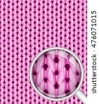 pink seamless realistic knitted ... | Shutterstock .eps vector #476071015