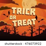 trick or treat halloween.... | Shutterstock .eps vector #476073922