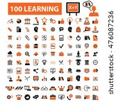 learning icons | Shutterstock .eps vector #476087236