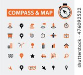 compass map icons | Shutterstock .eps vector #476092522