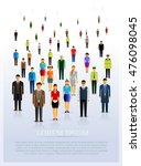people crowd on white... | Shutterstock .eps vector #476098045