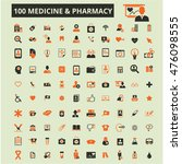 medicine pharmacy icons | Shutterstock .eps vector #476098555