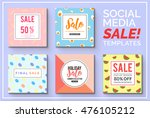 stylish social media sale... | Shutterstock .eps vector #476105212