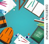 back to school. flat style.... | Shutterstock . vector #476118502