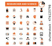 researcher and science icons | Shutterstock .eps vector #476125798