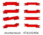 ribbon vector icon set red... | Shutterstock .eps vector #476142406