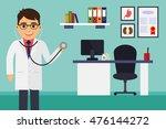 medical office. male doctor...   Shutterstock .eps vector #476144272