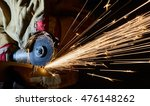 worker cutting metal with... | Shutterstock . vector #476148262
