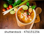 tom yam kong or tom yum  tom... | Shutterstock . vector #476151256