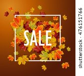 autumn sale background with... | Shutterstock .eps vector #476151766