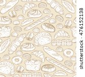 hand drawn bakery products and... | Shutterstock .eps vector #476152138