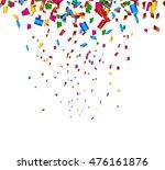 colorful confetti on white...   Shutterstock .eps vector #476161876