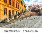 cobblestone street passes under ... | Shutterstock . vector #476164846