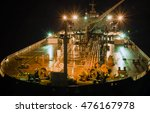 deck of the tanker at night | Shutterstock . vector #476167978