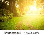 morning light through leafs in... | Shutterstock . vector #476168398