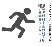 running man icon and bonus man... | Shutterstock . vector #476169898