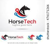 horse tech logo template design ... | Shutterstock .eps vector #476171266