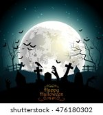 halloween background with... | Shutterstock .eps vector #476180302