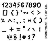 the vector of digital number... | Shutterstock .eps vector #476184136