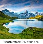 wetterhorn and wellhorn peaks... | Shutterstock . vector #476204476