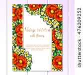 invitation with floral... | Shutterstock .eps vector #476209252