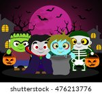 halloween background  trick or... | Shutterstock .eps vector #476213776
