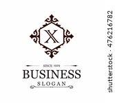 x letter vector logo template ...   Shutterstock .eps vector #476216782