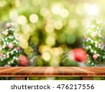 brown wood table top with... | Shutterstock . vector #476217556