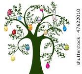 easter tree with eggs  easter...   Shutterstock .eps vector #47622010
