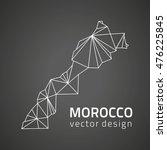 morocco vector contour black... | Shutterstock .eps vector #476225845