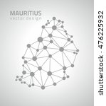 mauritius grey dot contour... | Shutterstock .eps vector #476225932