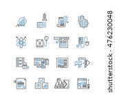 set of thin line business icons | Shutterstock .eps vector #476230048