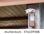 Cctv Security Camera And Lamp...