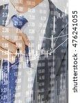 double exposure of stock market ... | Shutterstock . vector #476241055