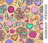 candy pattern. | Shutterstock . vector #476245162