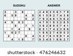 vector sudoku with answer....   Shutterstock .eps vector #476246632