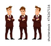successful young businessman ... | Shutterstock .eps vector #476267116