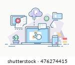 interactive workflow process... | Shutterstock .eps vector #476274415